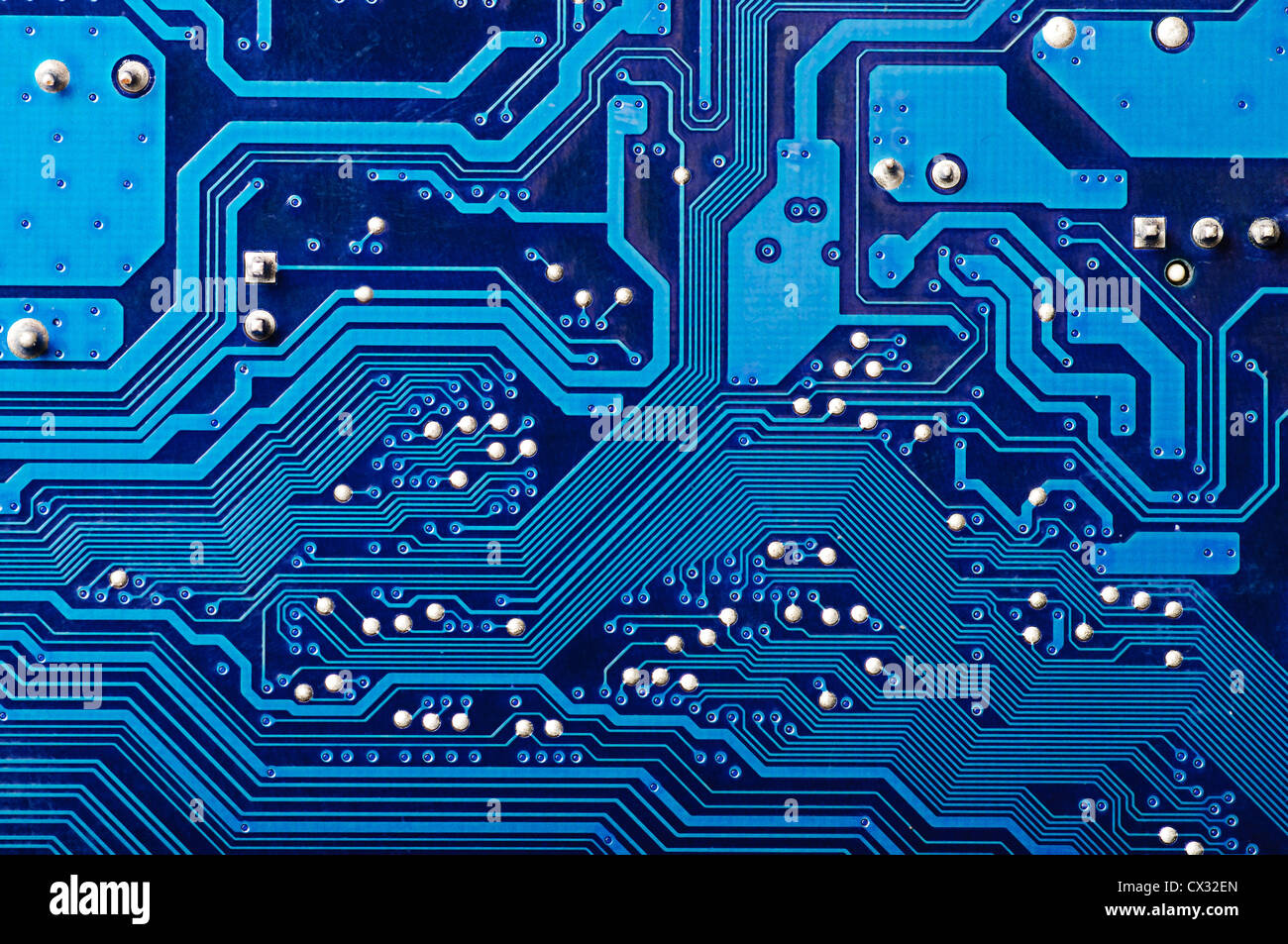 Blue digital circuit board background (pc motherboard Stock Photo ...