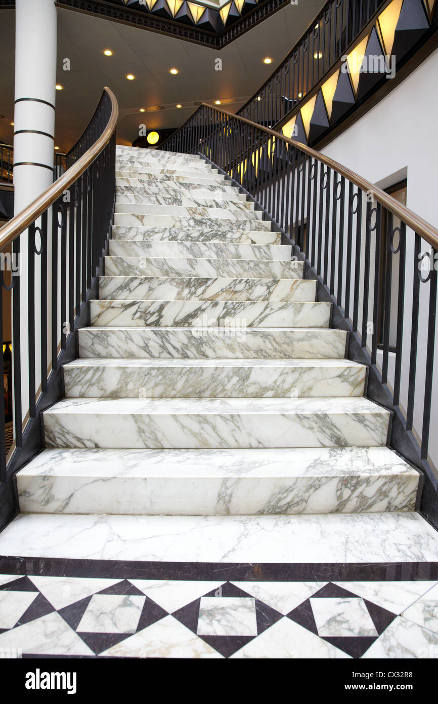 Marble Staircase In Luxury Interior