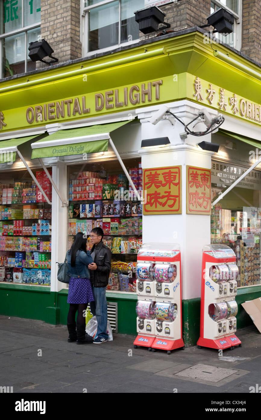 Oriental Delight, Shop, Soho, China Town, London, England; UK - Stock Image