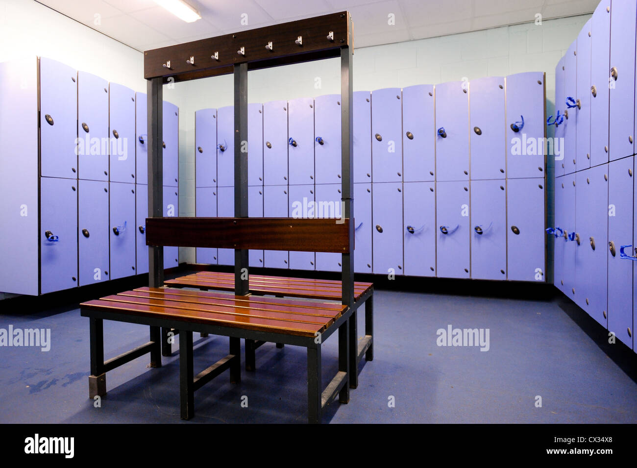Changing rooms in a modern sports facility Stock Photo 50471520 Alamy