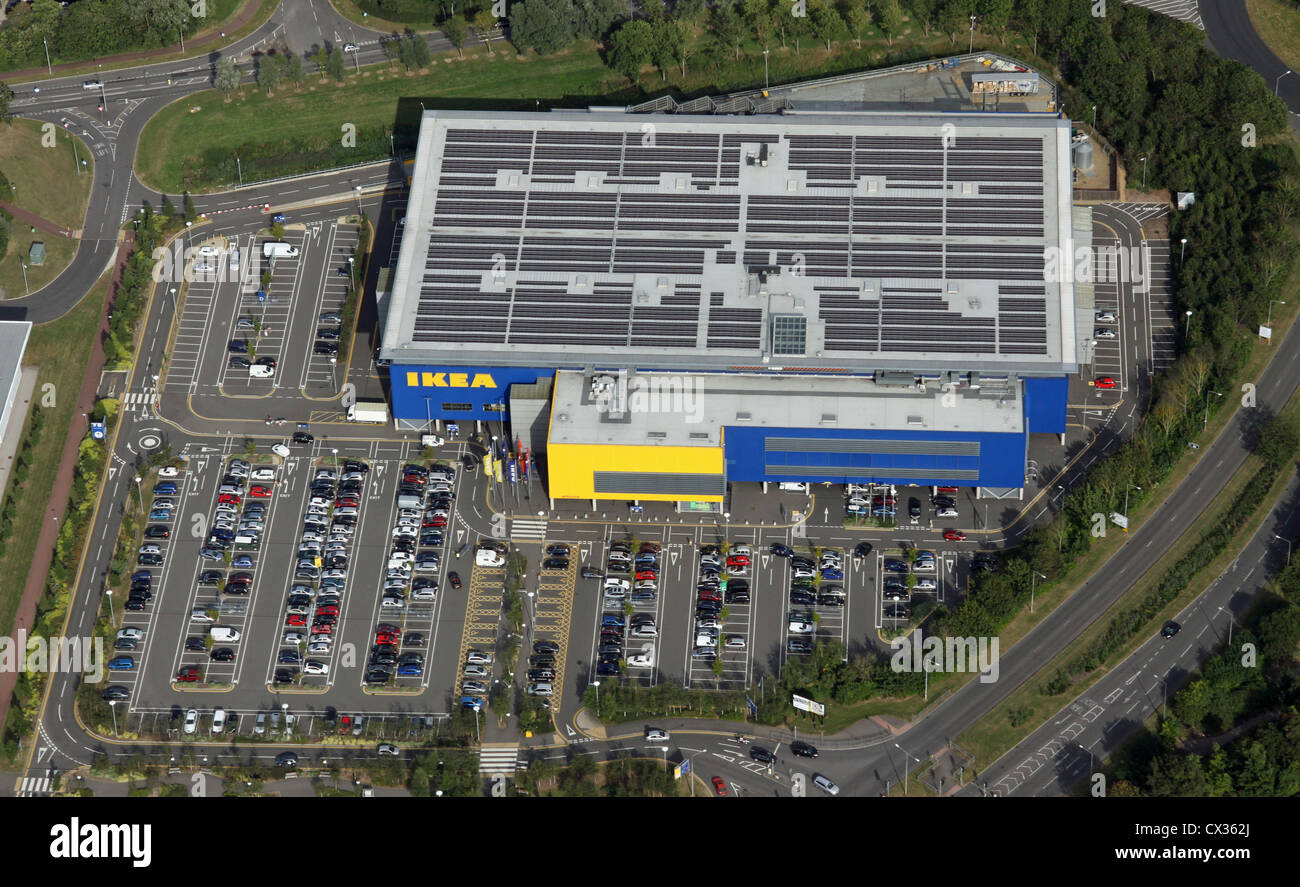 aerial view of the Ikea store in Milton Keynes - Stock Image
