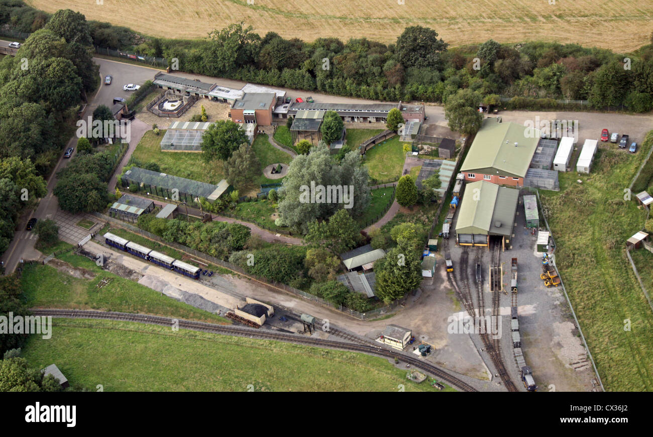 aerial view of ZSL Whipsnade Zoo in Bedfordshire - Stock Image