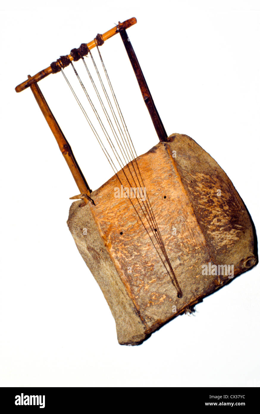 Khartoum Sudan Ethnographical Museum Stringed Musical Instrument - Stock Image