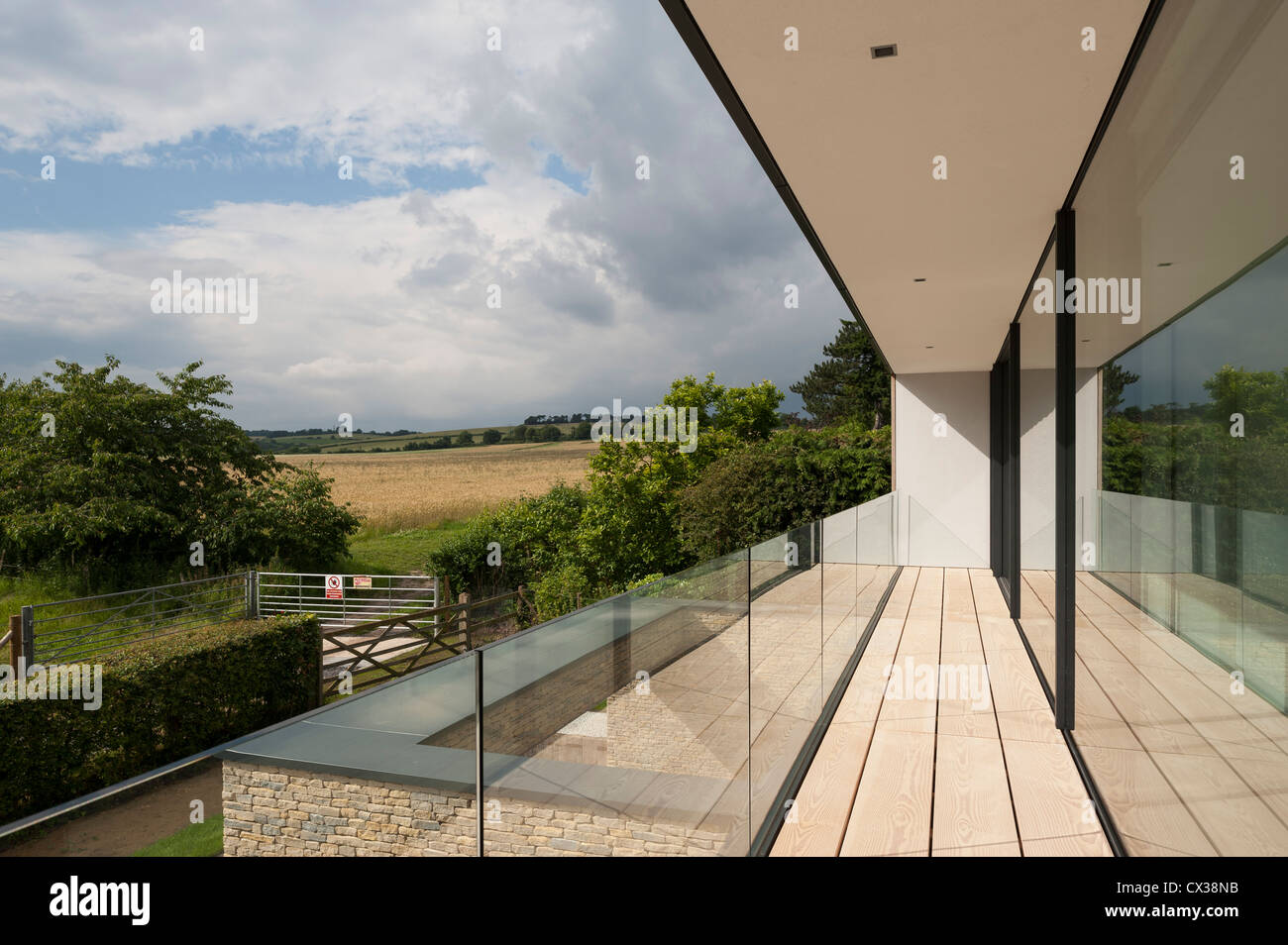 Hurst House, Bourne End, United Kingdom. Architect: John Pardey Architects with Strom Architects, 2011. View looking - Stock Image