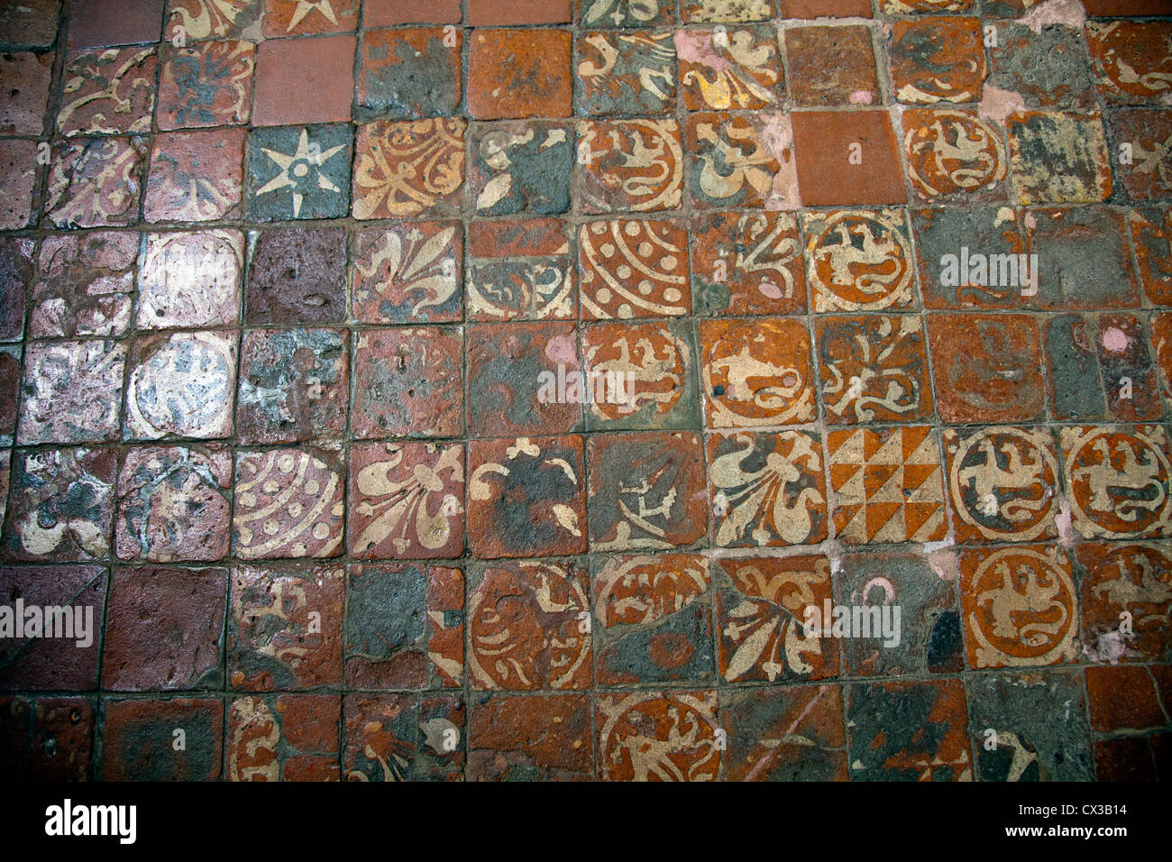 Winchester Medieval Floor Tiles - Hampshire UK Stock Photo: 50476304 ...