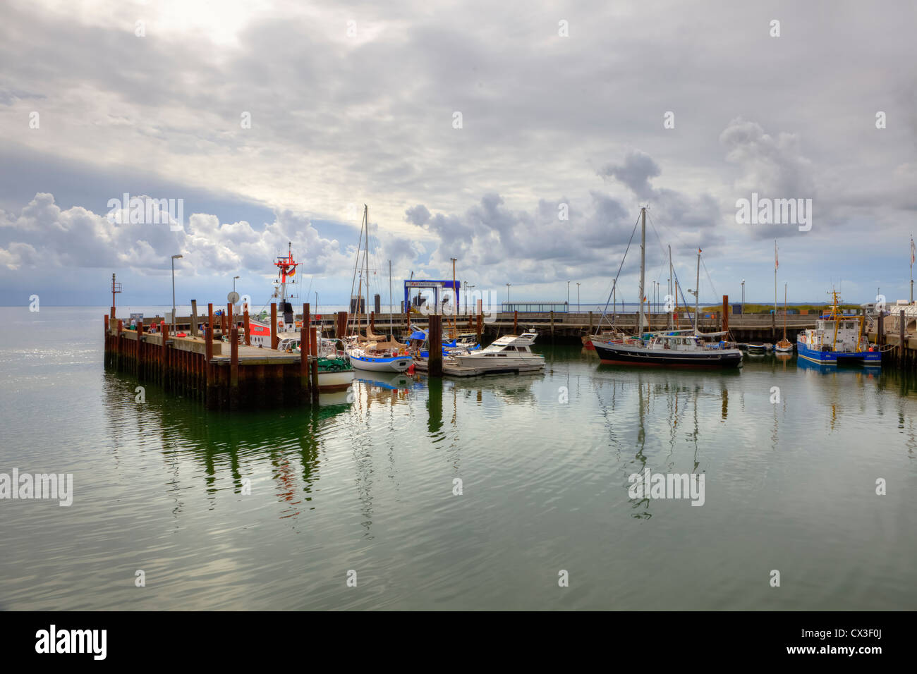 Port, List, Sylt, Schleswig-Holstein, Germany - Stock Image