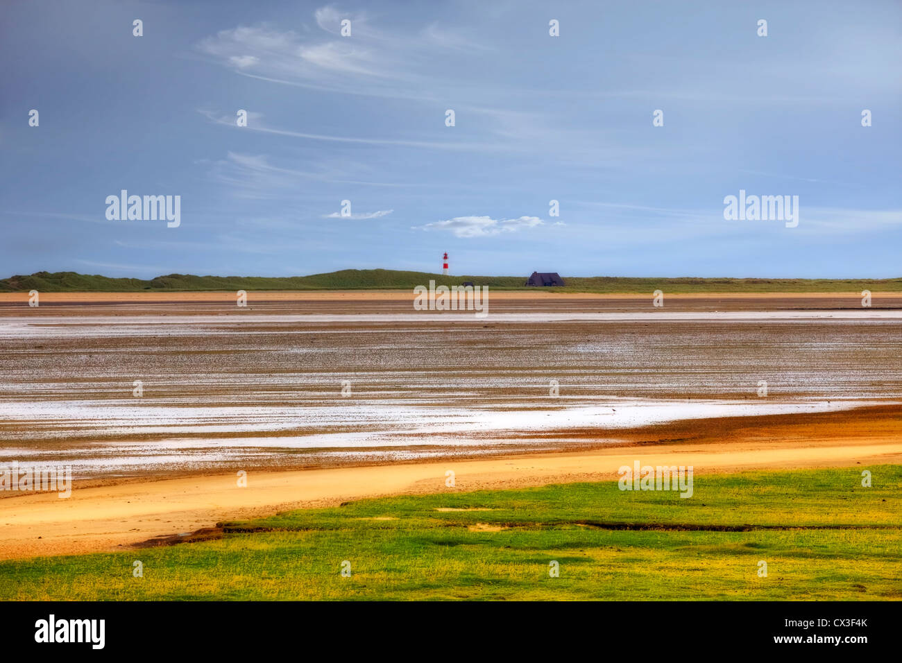 Koenig harbor, elbow, Wadden Sea, Sylt, Schleswig-Holstein, Germany - Stock Image