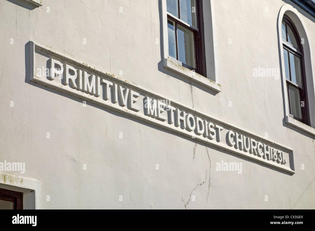 Primitive Methodist Church sign, St. Ives, Cornwall UK. - Stock Image