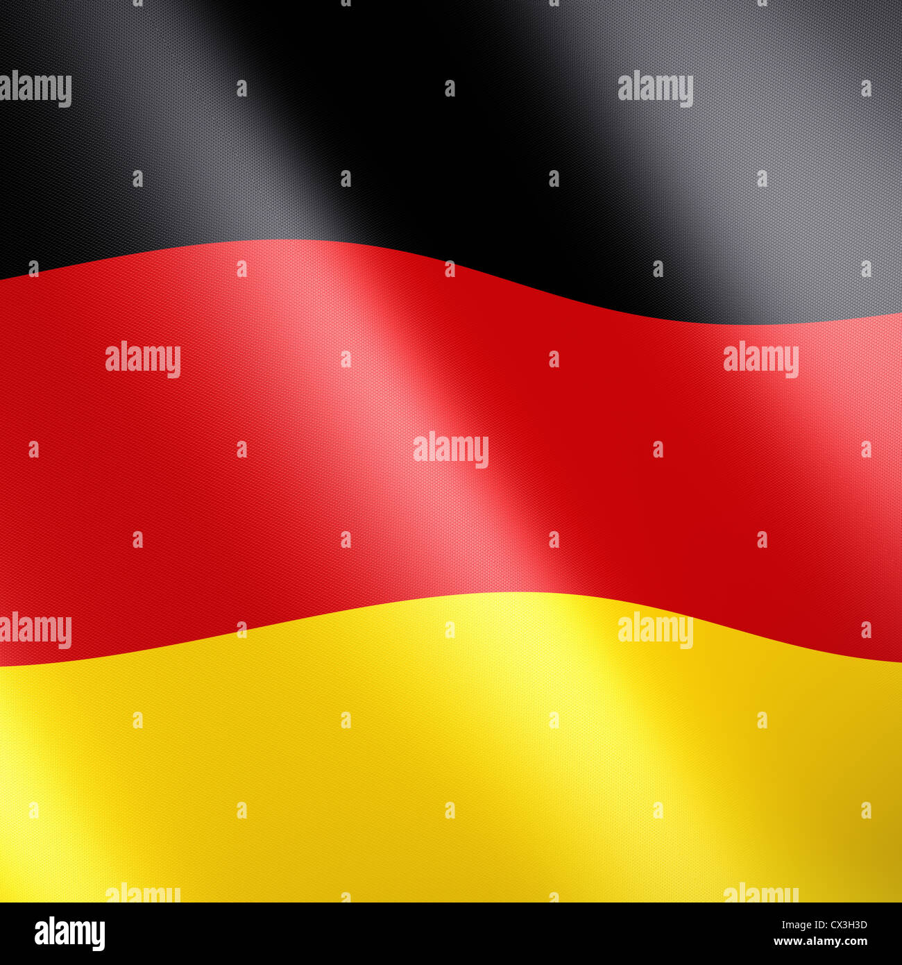 Deutsche oder Deutschland Fahne / Flagge - flag of the federal republic of germany - Stock Image
