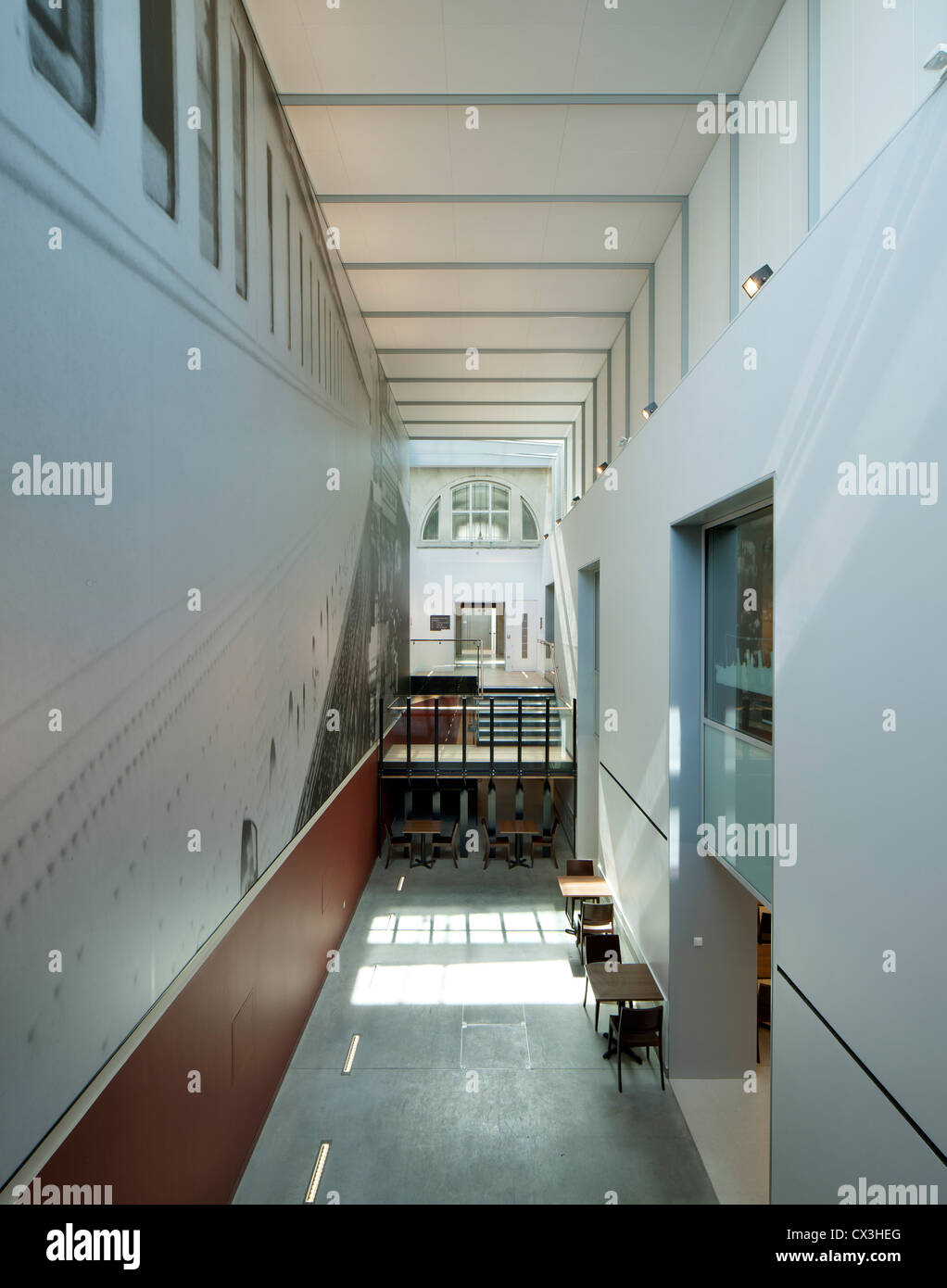 SeaCity Museum, Southampton, United Kingdom. Architect: Wilkinson Eyre Architects, 2012. Interior view of the museum. - Stock Image
