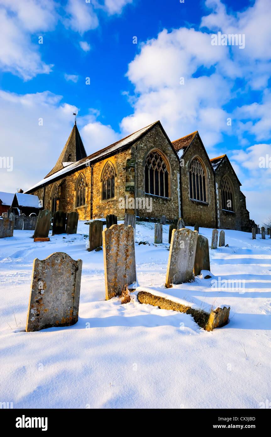 church,westerham,kent,england,uk,europe - Stock Image
