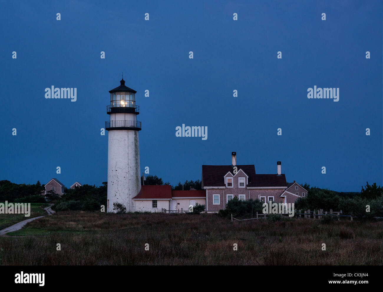 Cape Cod Lighthouse, Truro, Cape Cod, Massachusetts, USA Also known as Highland Lighthouse. - Stock Image