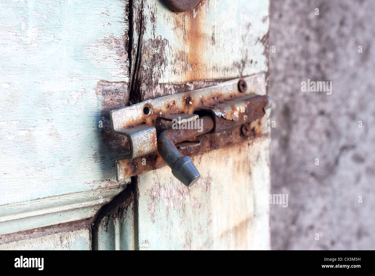 rusty lock, meaning can not be concealed. - Stock Image