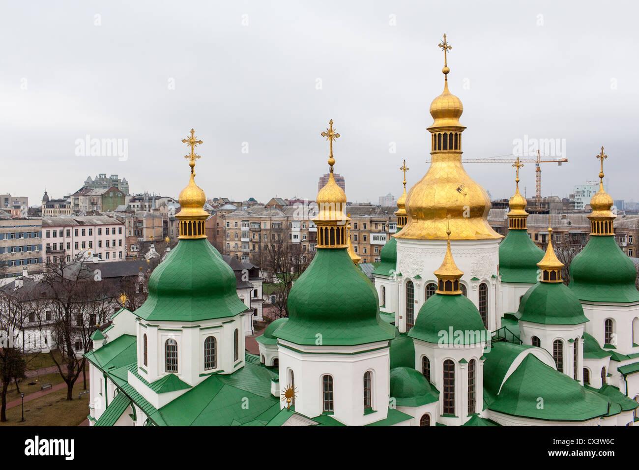 Saint Sophia Cathedral in Kiev, Ukraine, Eastern Europe. Stock Photo