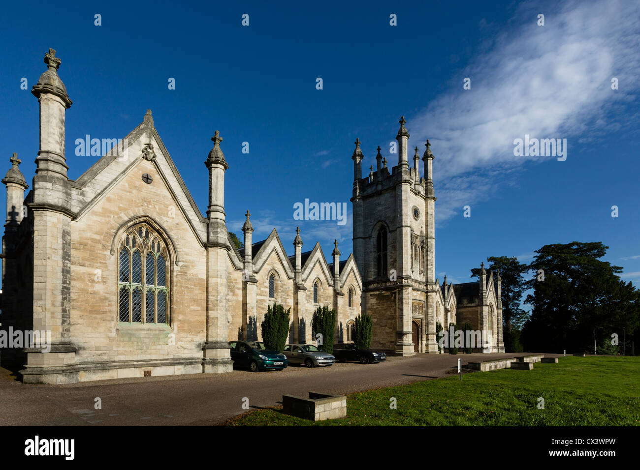 The Aberford Almshouses, situated between Leeds and York, were built by sisters Mary and Elizabeth Gascoigne in Stock Photo