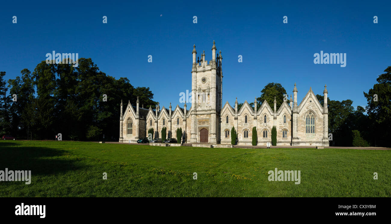 The Aberford Almshouses were built by sisters Mary and Elizabeth Gascoigne in 1844. Stock Photo