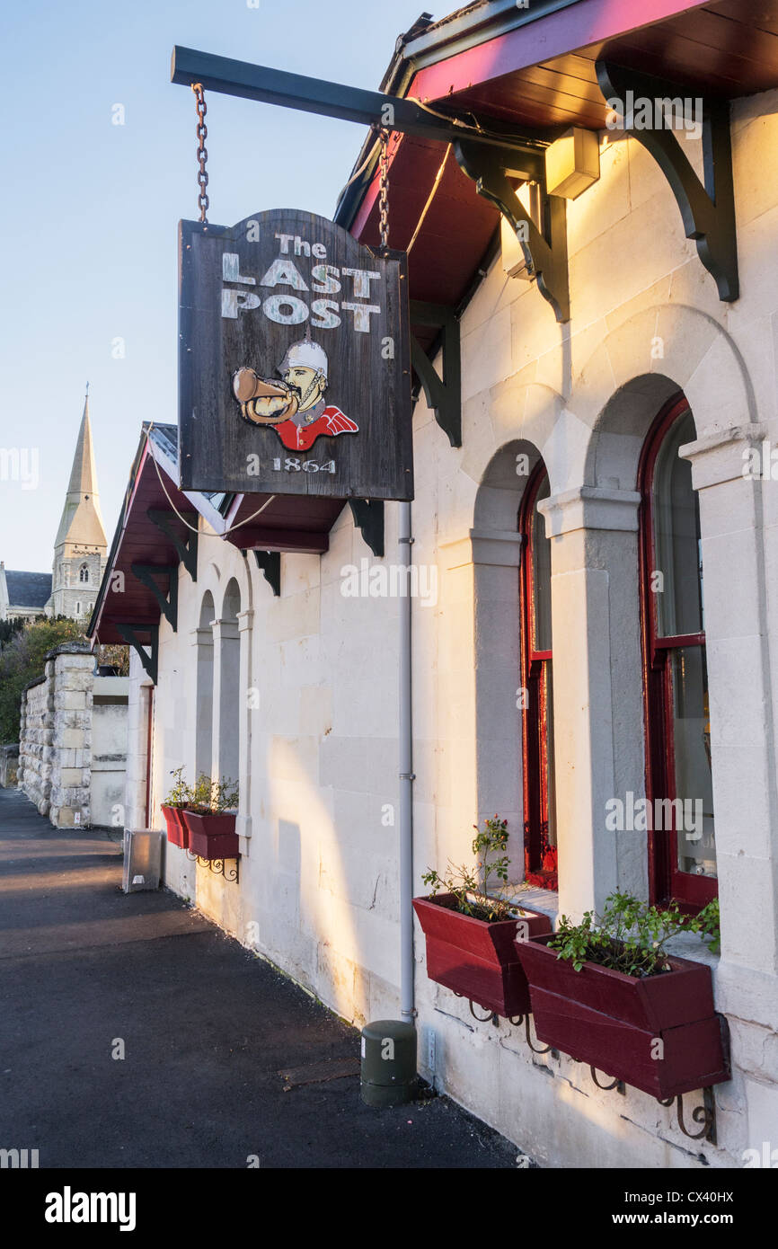 The Last Post, a restaurant in one of Oamaru's heritage buildings, which was the original Post Office, Otago, - Stock Image