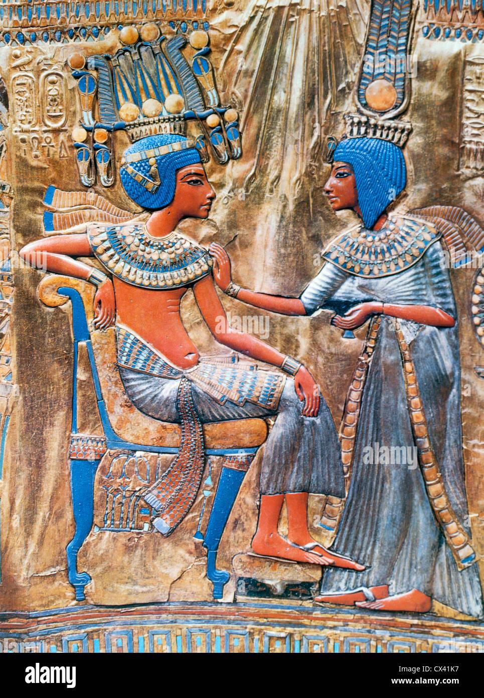 Tutankhamen, XVIII Dynasty King of Egypt, 1350 B.C. - Stock Image