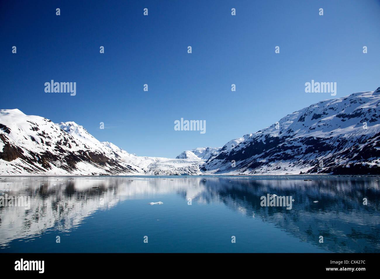 Reid Glacier. Glacier Bay National Park, Alaska. - Stock Image