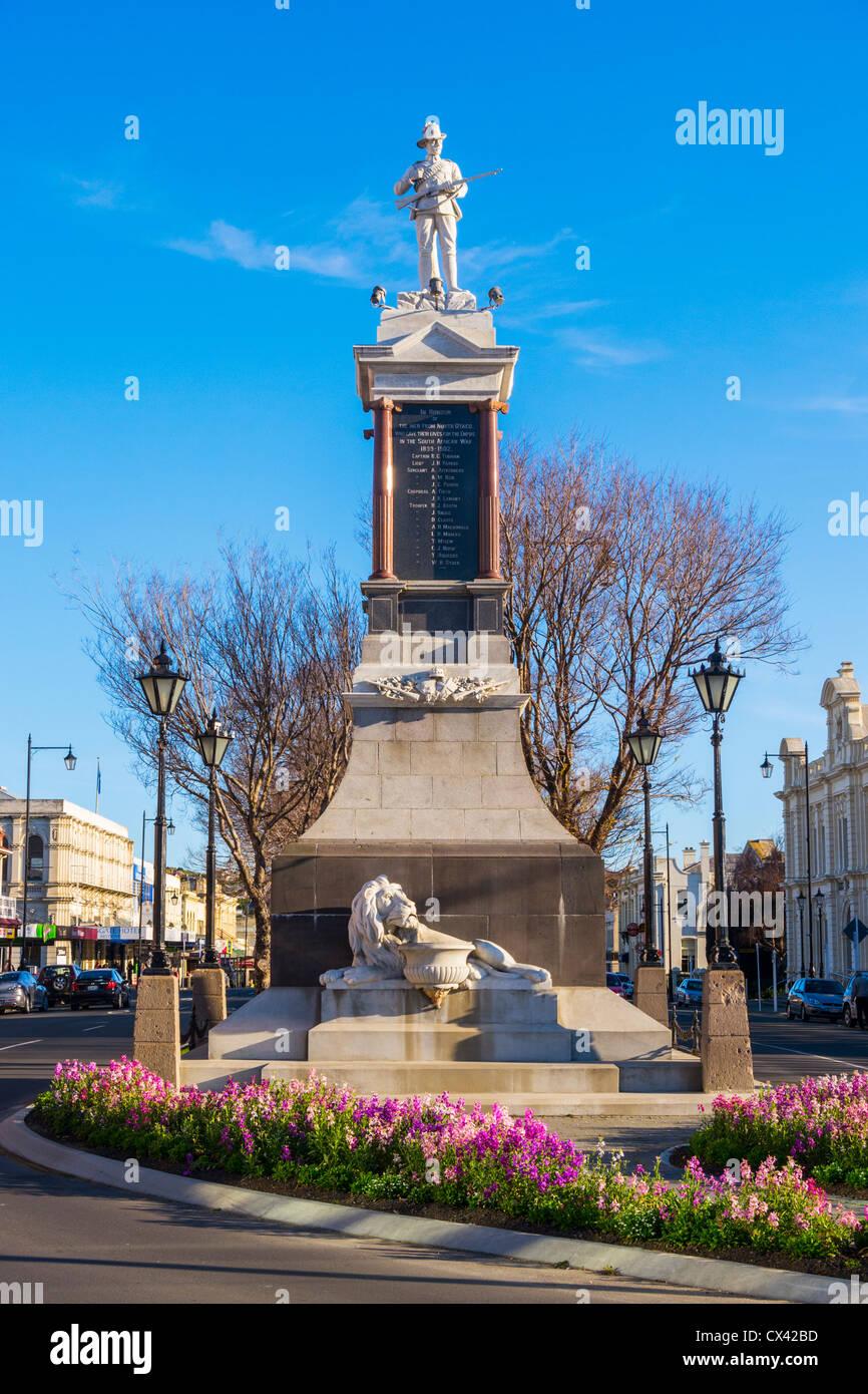 Boer War Memorial, Oamaru, Otago, New Zealand. - Stock Image