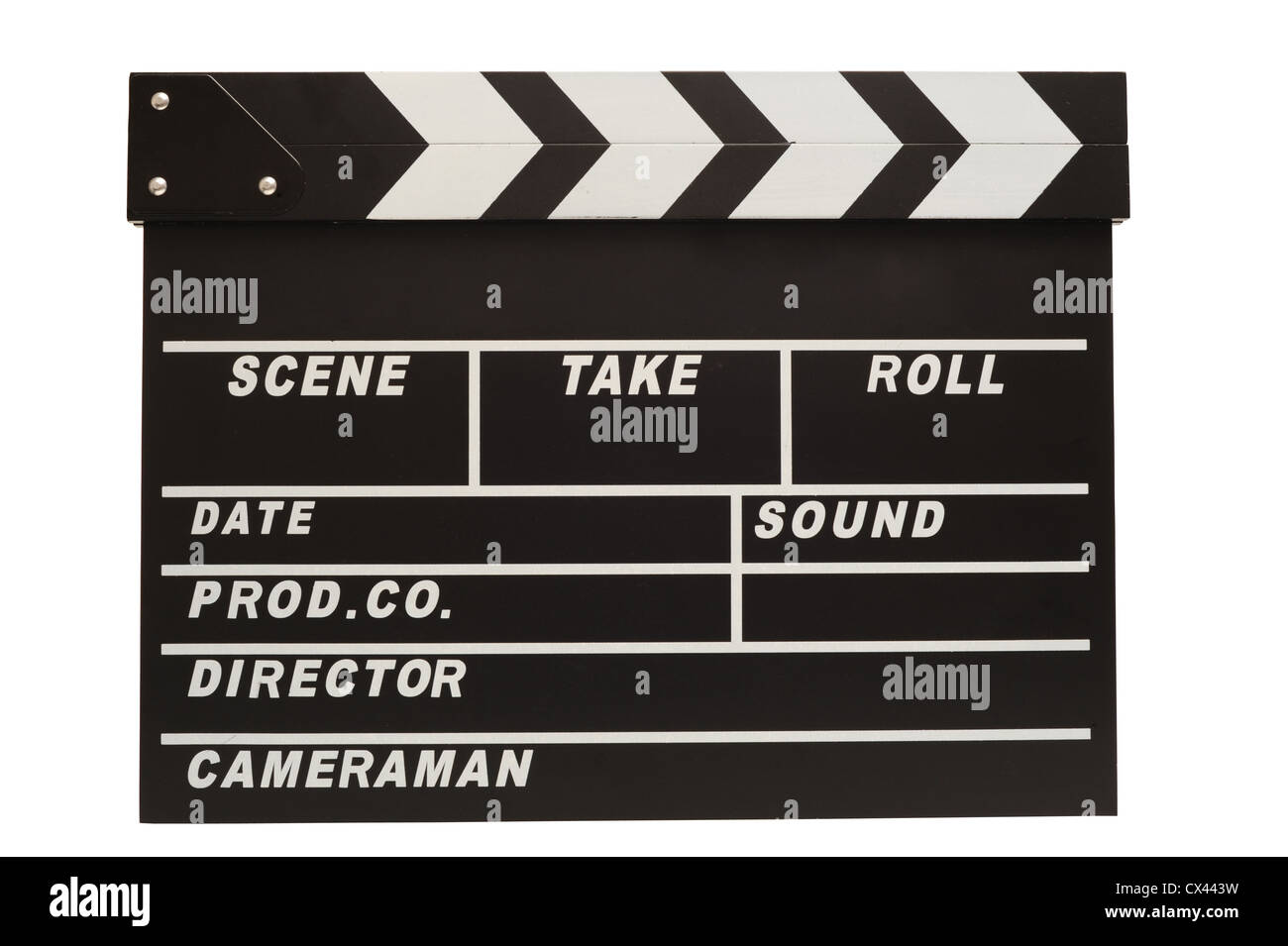Clapper board with clipping path - Stock Image