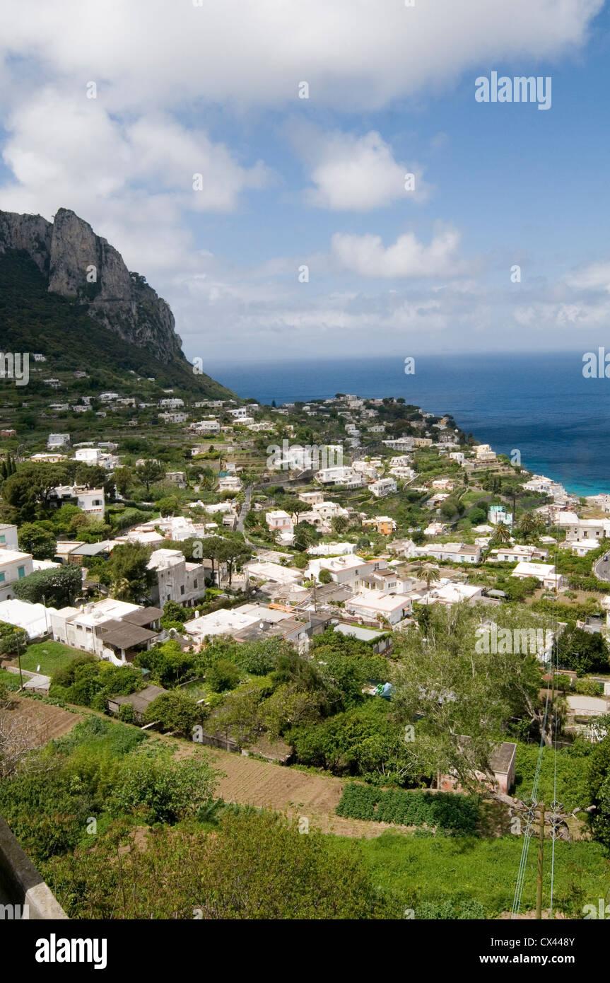 capri island of italy italian amfli coast med mediterranean - Stock Image