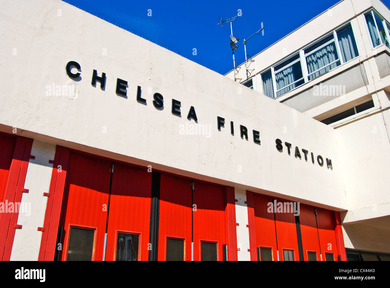 Chelsea Fire Station London - Stock Image