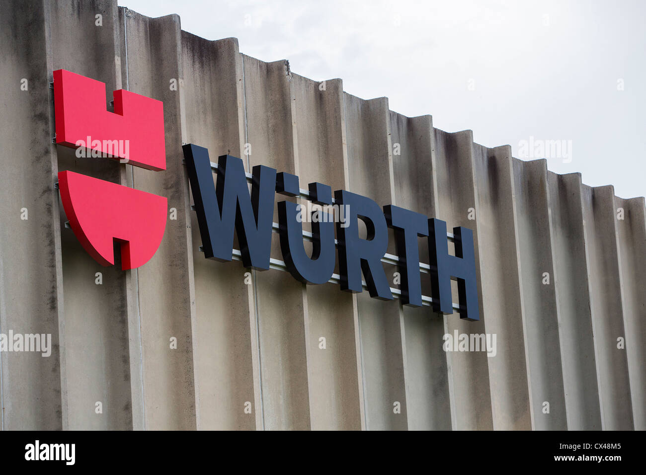 A Wurth warehouse.  - Stock Image