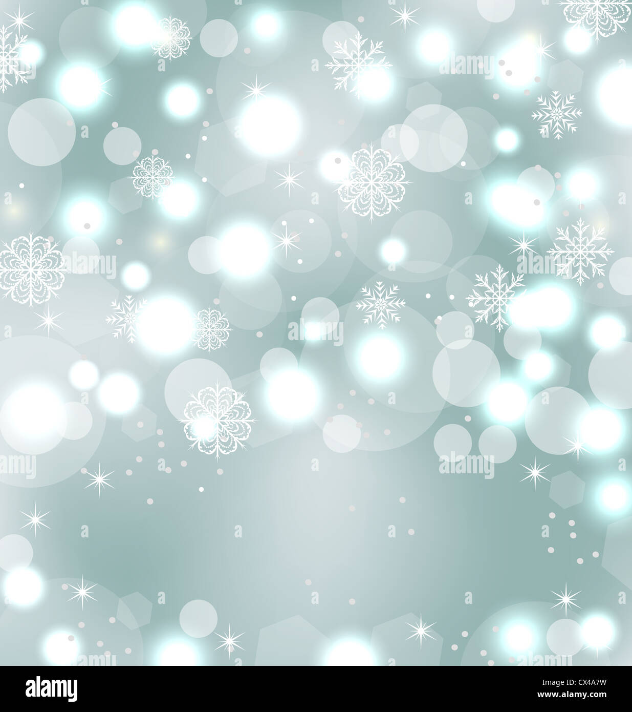 Illustration Christmas Cute Wallpaper With Sparkle Snowflakes