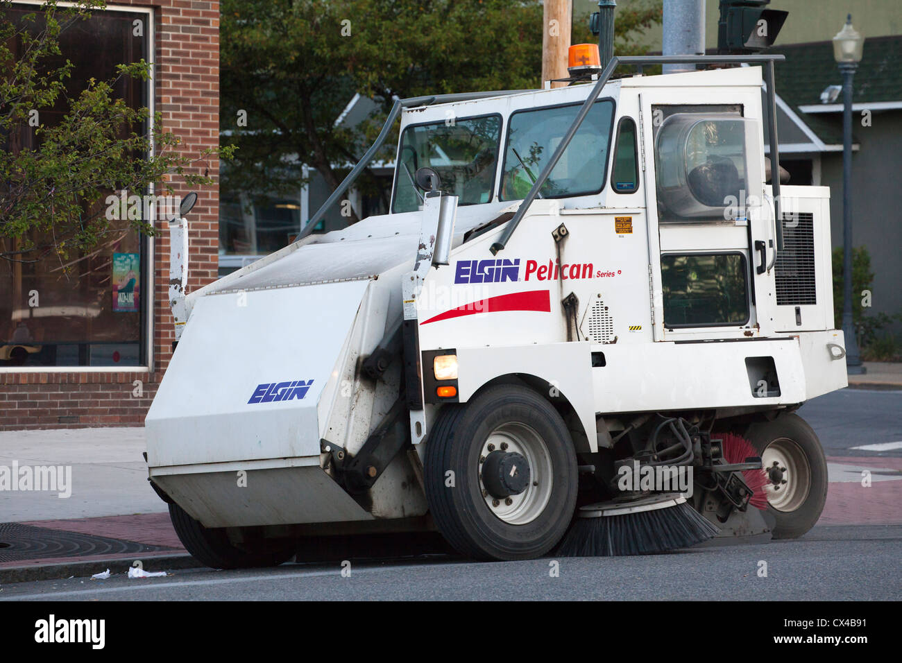 Street Sweeper Sweeping The Streets At Lake George New York Stock - Nyc street sweeping map