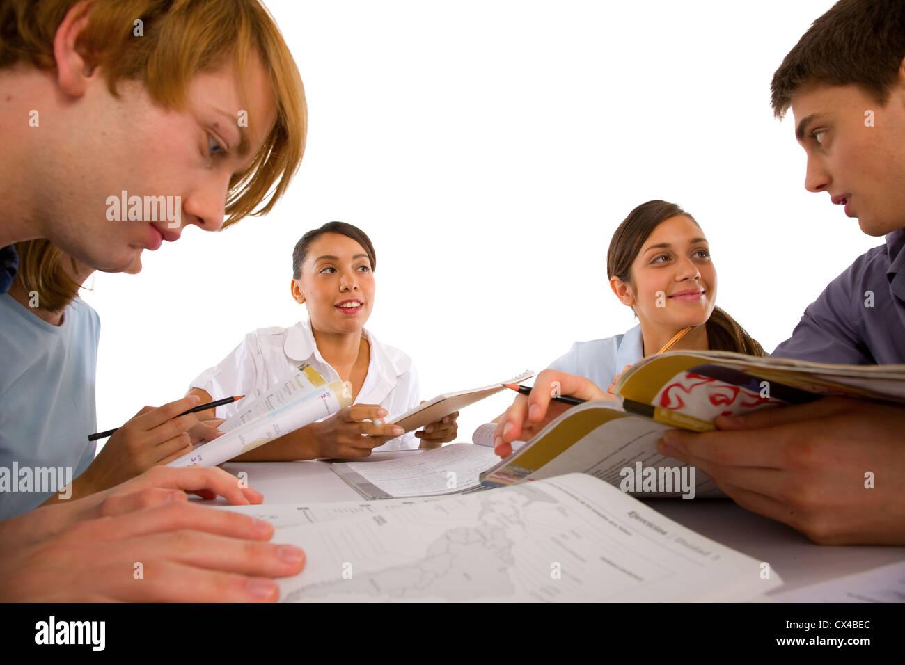 teenagers students - Stock Image