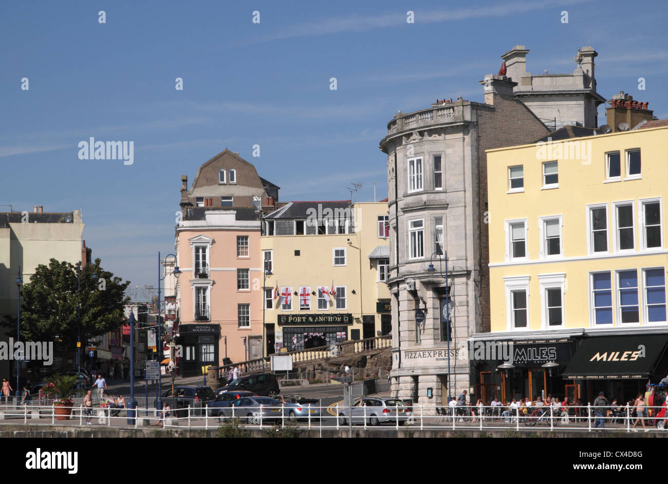 Harbour Parade And Albion Hill Ramsgate Kent Stock Photo