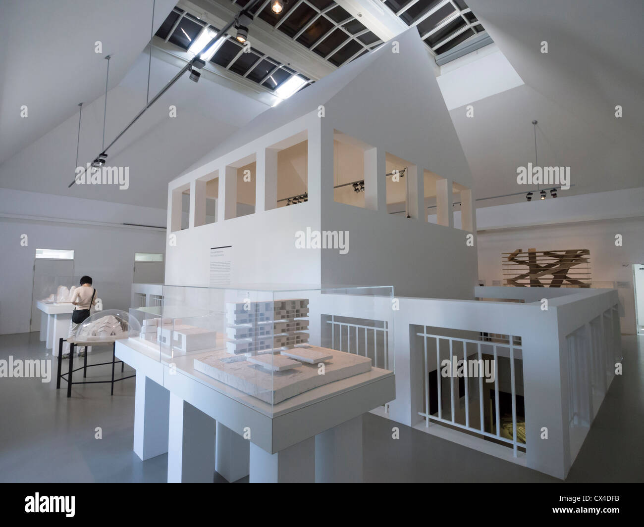 Interior of Germany Architecture Museum in Frankfurt Germany - Stock Image