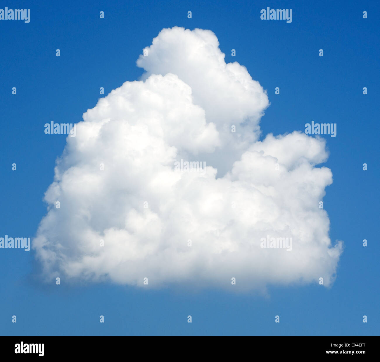 Background of a blue sky and a single cloud - Stock Image