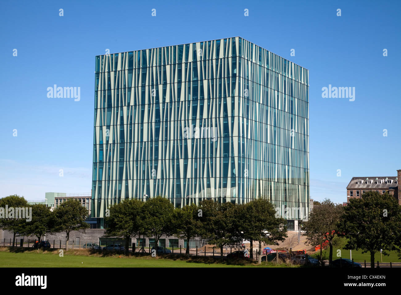 The New Library Building at Aberdeen University - Stock Image
