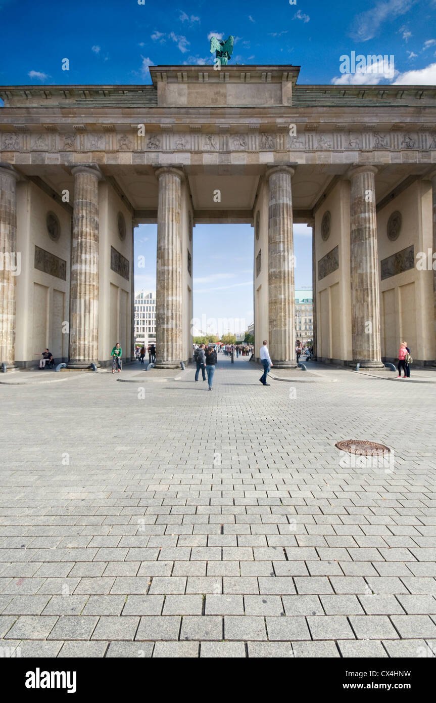 The Brandenburg Gate in Berlin, Germany - Stock Image