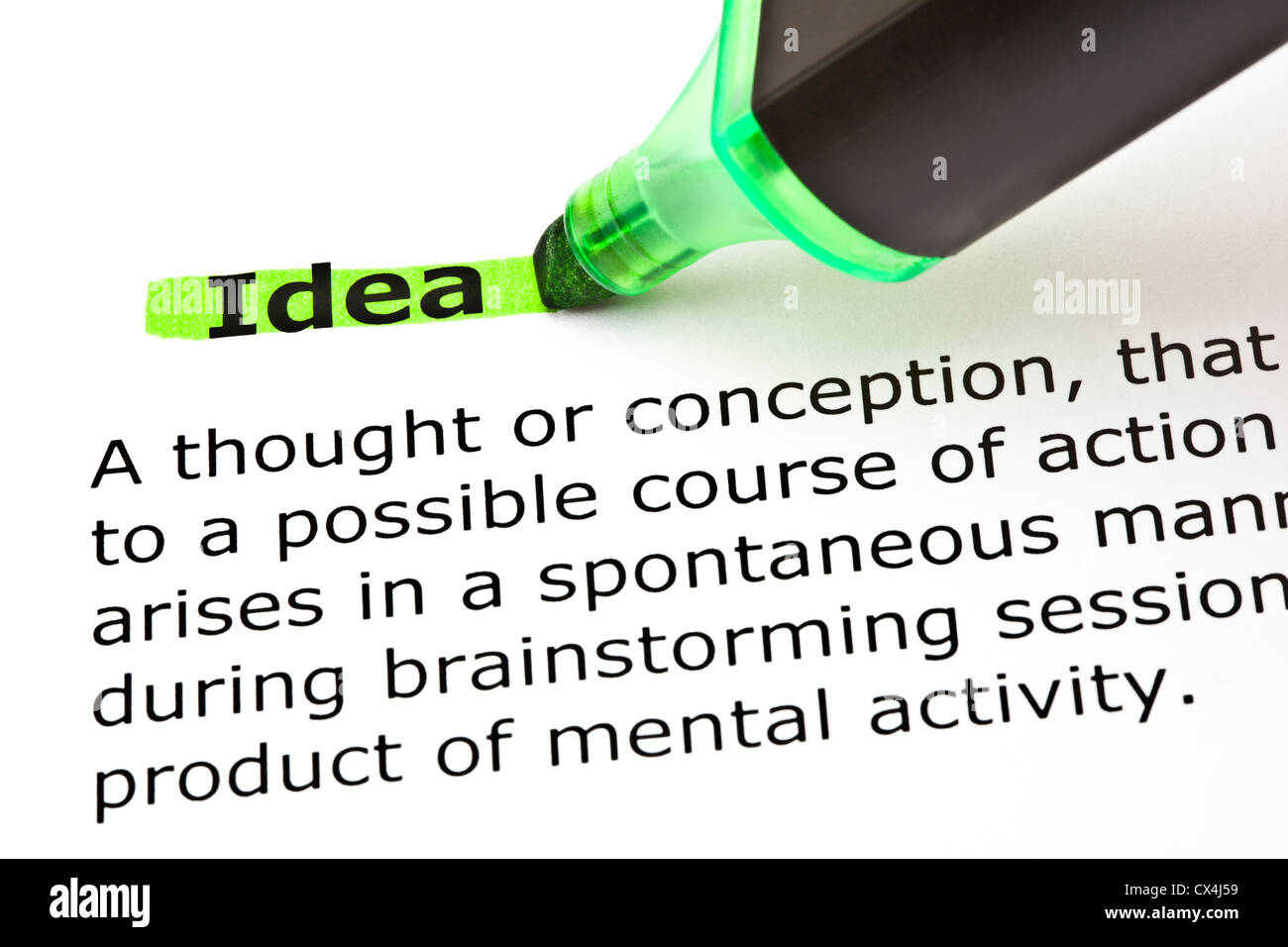 Goal Definition Highlighted In Green Stock Photos & Goal