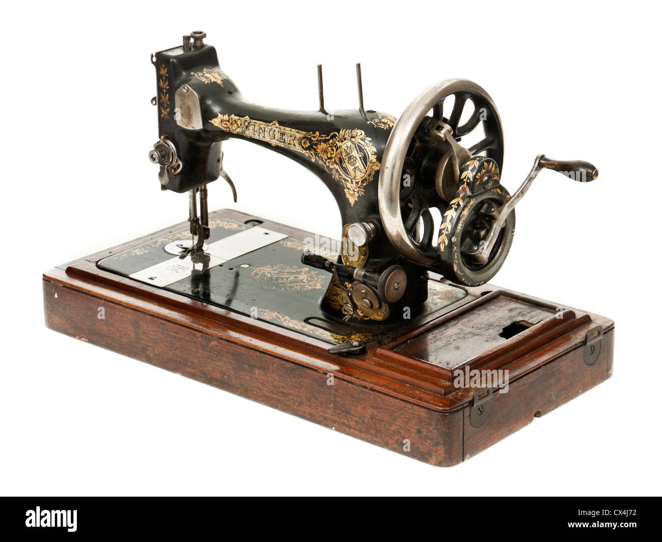 Antique singer manual sewing machine stock photo: 50503910 alamy.