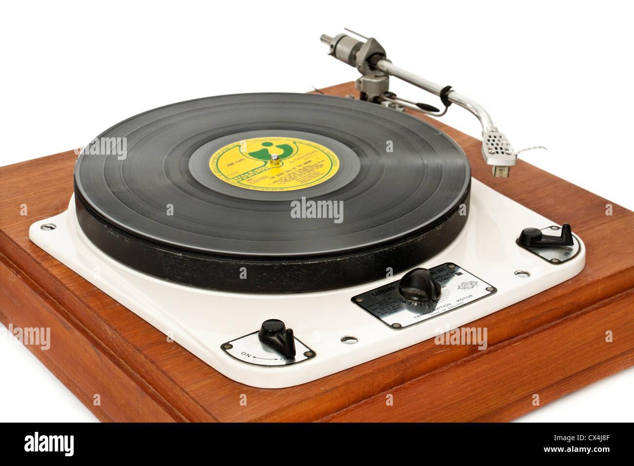 Vintage 1950's Garrard 301 turntable with transcription
