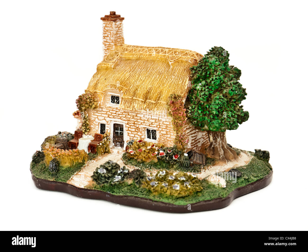 Miniature English country cottage ornament - Stock Image