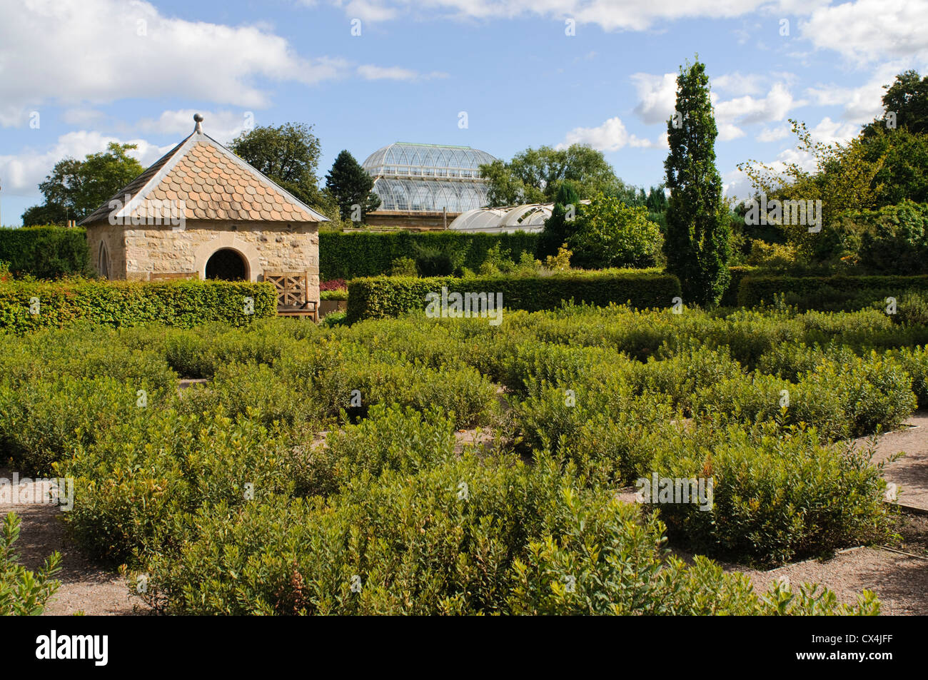 Royal Botanic Garden Edinburgh, The Queen Mother's Memorial Garden. - Stock Image