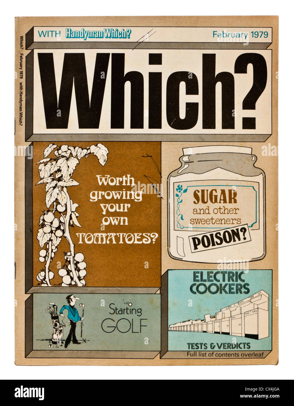 February 1979 issue of Which? consumer magazine - Stock Image