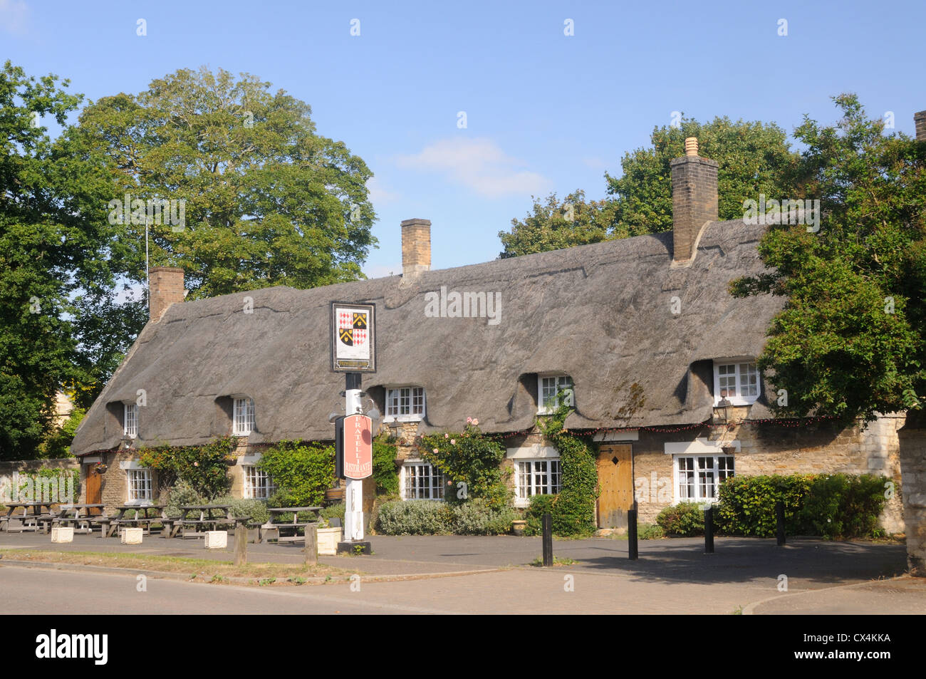 The Fitzwilliam Arms, in Castor, Northamptonshire, England - Stock Image