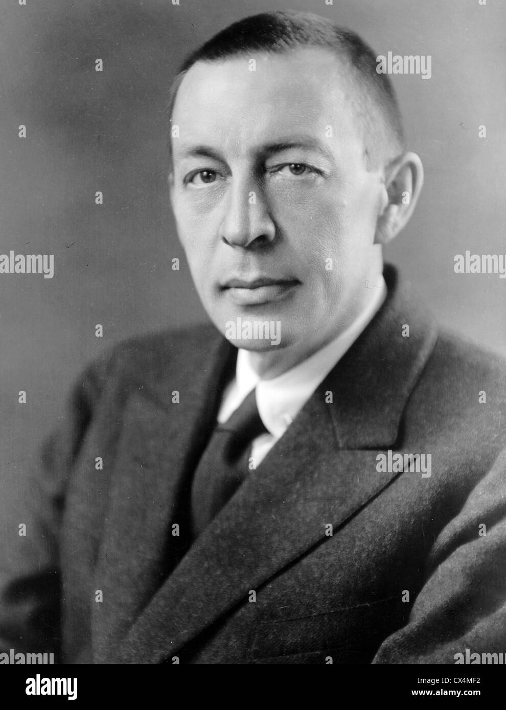 Rachmaninoff, Sergei Vasilievich Rachmaninoff, Russian composer, pianist, and conductor. - Stock Image