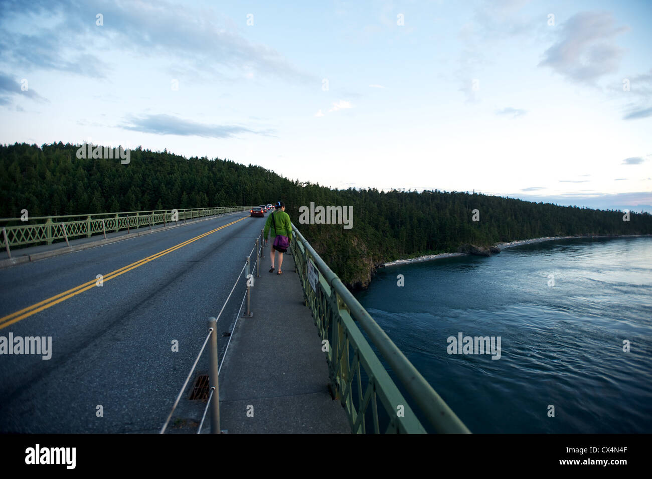 Deception Pass Bridge. Whidbey Island. Olympic Peninsula, Washington State, USA - Stock Image