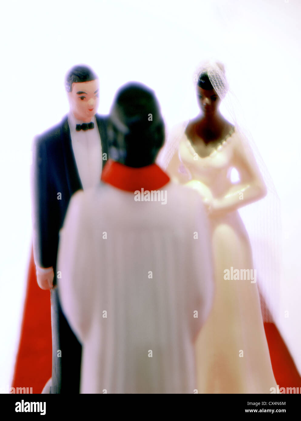 Multi Racial Wedding Ceremony. miniatures. ©mak - Stock Image