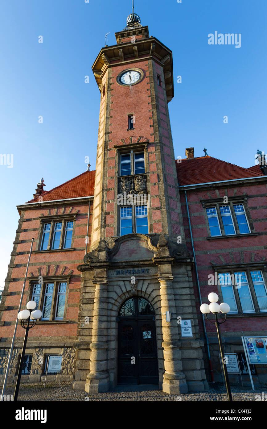 Old harbor master's office, Old harbor master's office, Dortmund in North Rhine-Westphalia, Germany - Stock Image