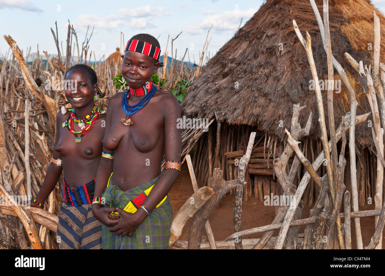 Turmi Ethiopia Africa village Lower Omo Valley Hamar Hammer tribe ...