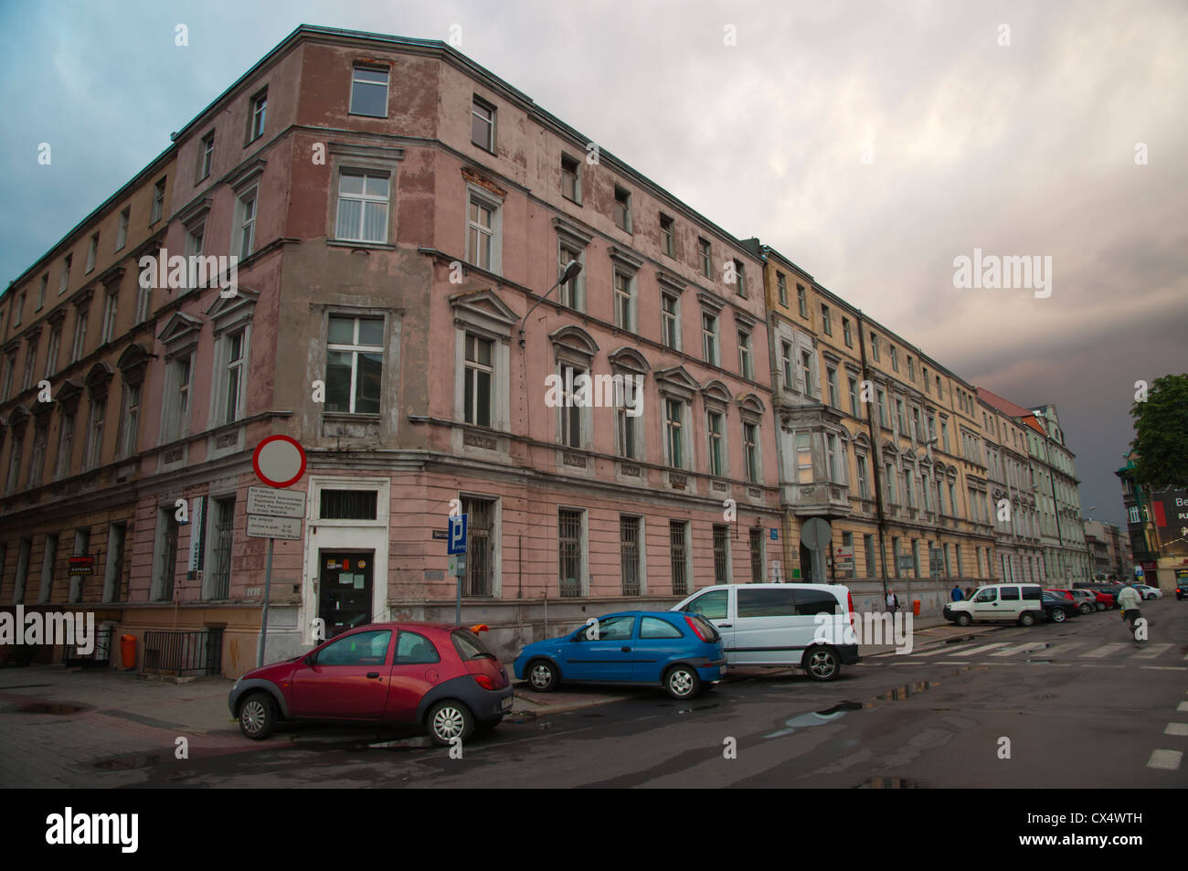 Ulica Mariacka street central Katowice city Silesia region Poland Europe - Stock Image