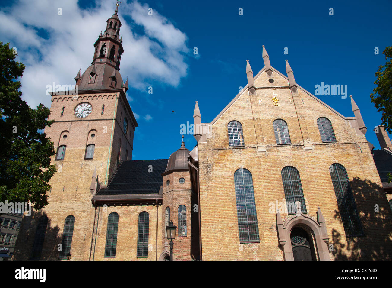 Oslo Domkirke the Cathedral (1697) Sentrum central Oslo Norway Europe - Stock Image